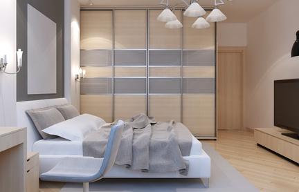 חדר ארונות עם עיצוב מעניין